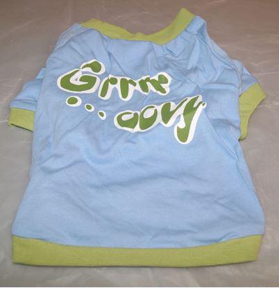 Billede af Dog T-Shirt 34 cm. Lyseblå/grøn