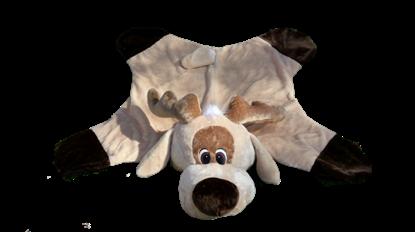 Billede af Hundetæppe med rendyrhoved