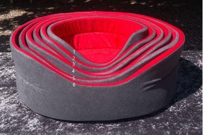 Billede af Hundekurv rød/grå str. 1 36 cm.