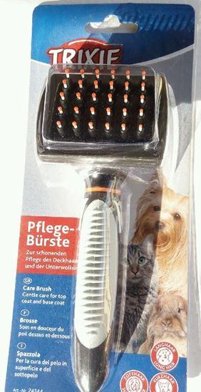 Billede af Trixie Karte/børste med plastbupper 7x17 cm